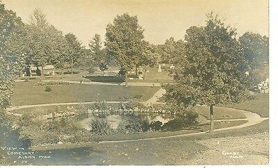 Albion Michigan View In Cemetery Grant Photo Rppc Mich A Ebay
