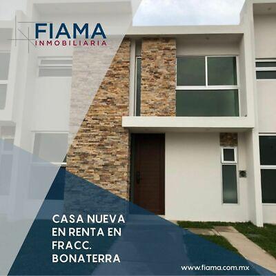 CASA NUEVA EN RENTA EN FRACC. BONATERRA (M) $11,000