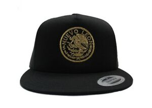 3e1d787cce9817 Image is loading Nuevo-Leon-Mexican-Seal-Mesh-Snapback-YUPOONG
