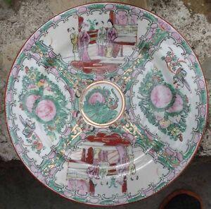 -céramique Chinoise Ancienne Plate Finement Traité