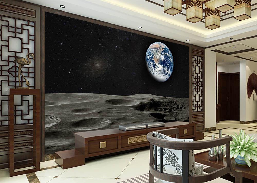 To Explore  Moon 3D Full Wall Mural Photo Wallpaper Printing Home Kids Decor
