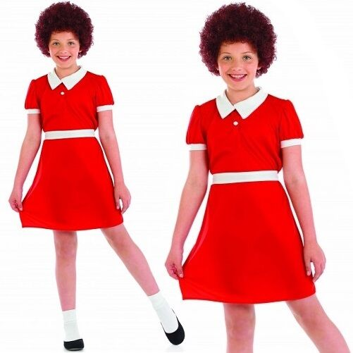 Annie Wig Musical Little Orphan Fancy Dress Halloween Child Costume Accessory