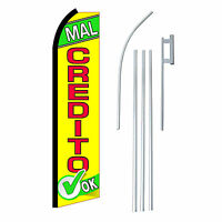 Mal Credito Ok 15' Complete Swooper Flag Starter Kit Bow Feather