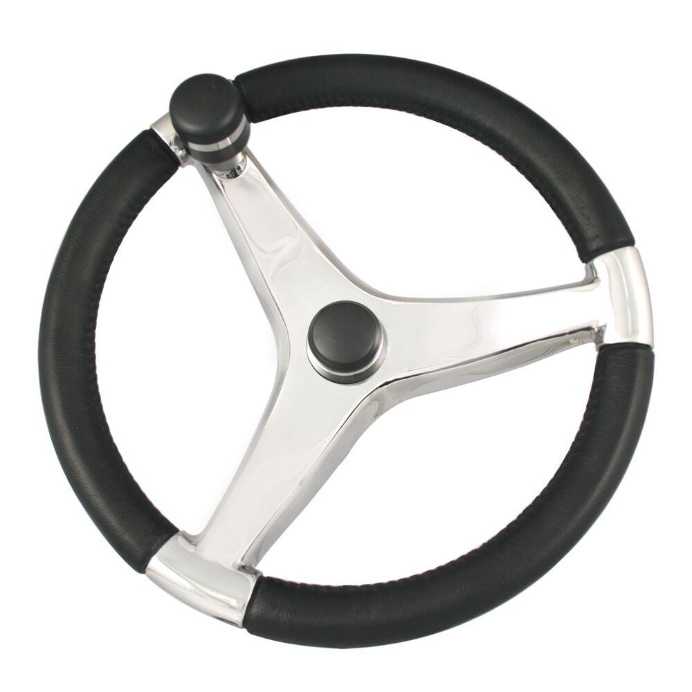 Ongaro Evo Pro 316 Cast SS Steering rueda wControl Knob  13.5 Dia. 7241321FG