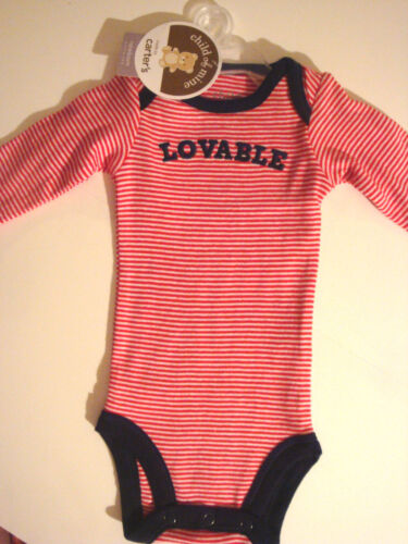 """INFANT GIRLS OR  BOYS CARTER/'S /""""LOVABLE/""""  1PC CREEPER  SIZE NB 6 MONTHS   NWT"""