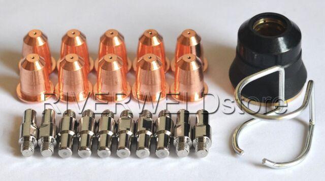 PR0110 Plasma Electrode PD0116-08 Tip Φ0.8 & PC0116 Fit Trafimet S45 Torch,22pcs
