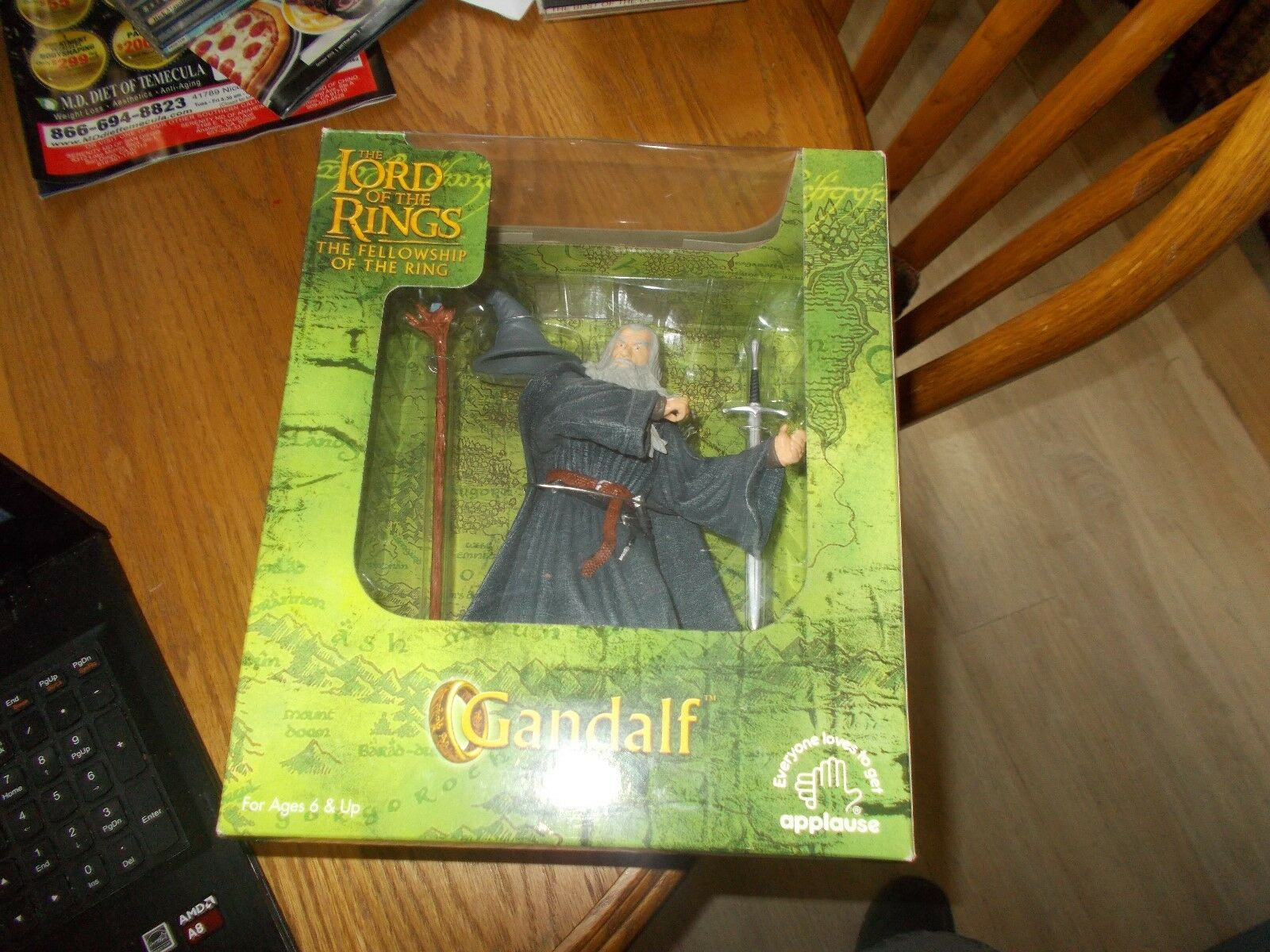 GANDALF-LORD OF THE RINGS THE FELLOWSHIP OF THE RING BRAND NEW SEALED