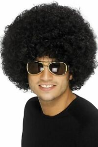 Unisex-70s-80s-Curly-Black-Afro-Disco-Fancy-Dress-Wig-Hen-Stag-Theme-Party-Fun
