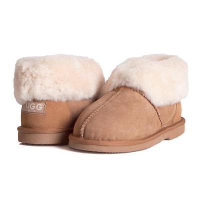 EVER UGG Ladies Mallow Ankle Slippers/Scuffs, Premium Australian Sheepskin