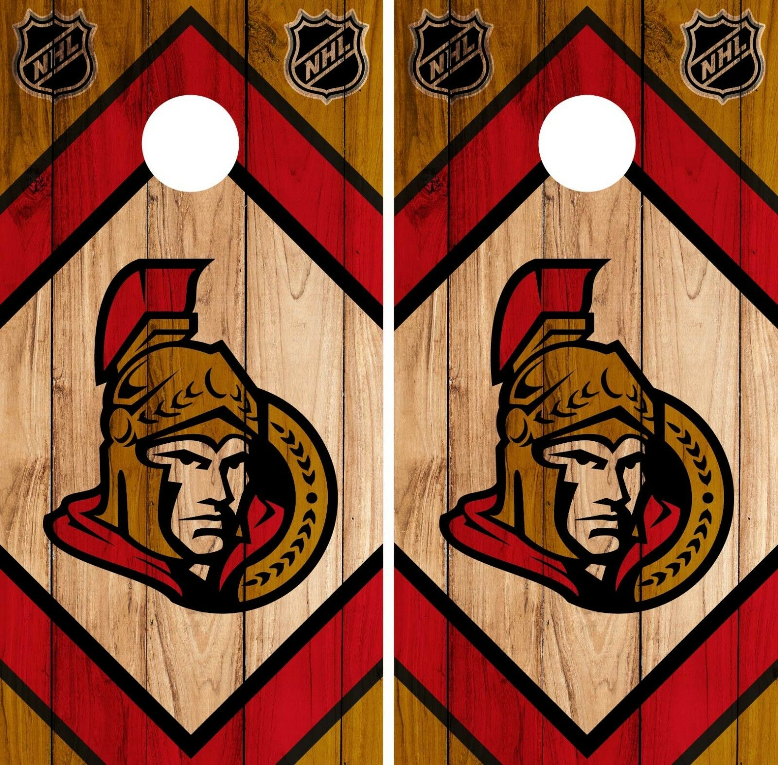 Ottawa Senators Cornhole Wrap NHL Game Board Skin Set Vinyl Decal CO307