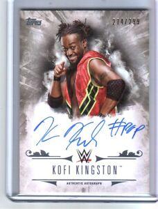 WWE-Kofi-Kingston-2016-Topps-Undisputed-On-Card-Autograph-SN-274-of-299