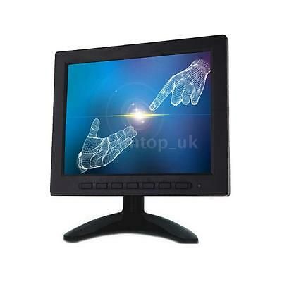 Hot 8 Inch TFT LCD Video Color CCTV Security Monitor Screen VGA BNC AV Input