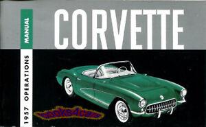 1957 chevrolet corvette owners manual handbook guide book 57 fuelie rh ebay com Engene 57 Chevrolet Corvette 1955 Chevrolet Bel Air