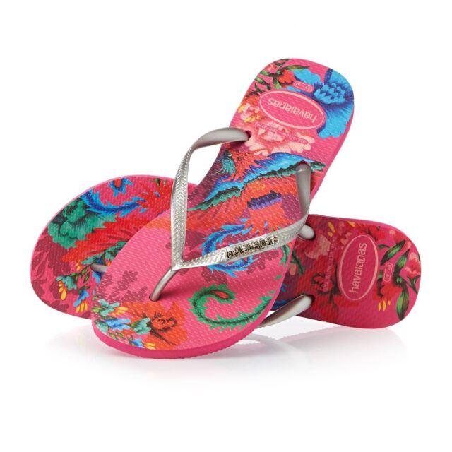 5cbb215a99cd07 Havaianas Slim Retro Tropical Tribal Women s Flip Flops All Size ...