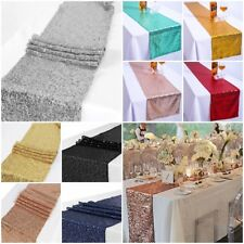 Sequin Table Runner Glitter Sparkly Shiny Bling Material Cloth Wedding Decor