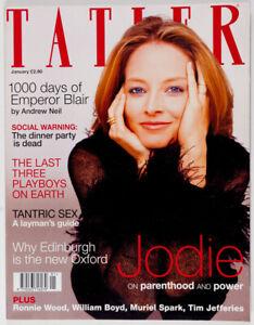 Details about JODIE FOSTER Emily Mortimer RONNIE LEAH JO WOOD Tom Hollander  TATLER magazine UK