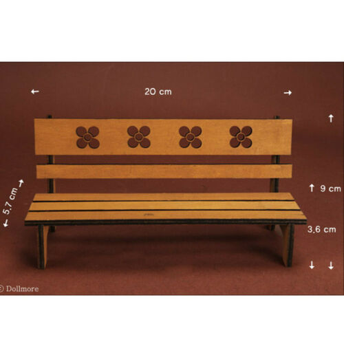 Brown Povoda Wood Bench 1//6 Scale BJD DOLL furniture USD Size