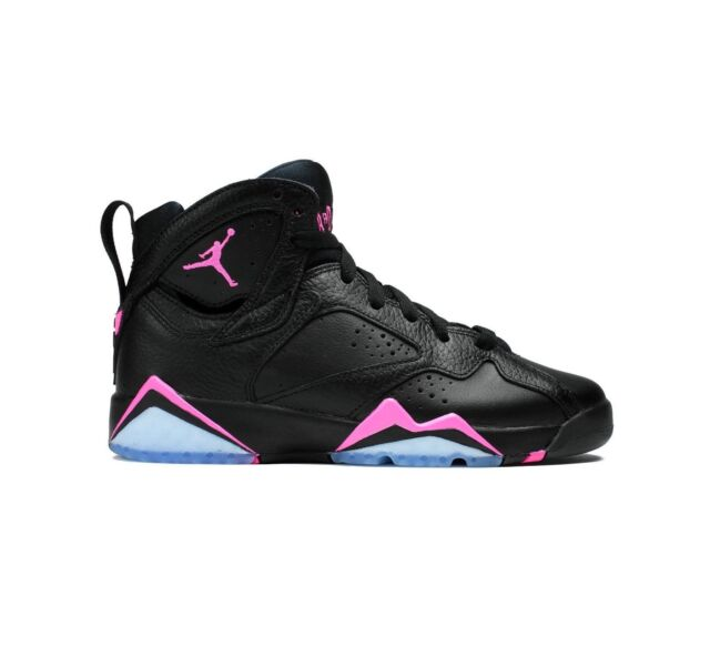 Buy Kids Air Jordan 7 VII Retro GS HYPER Pink Black White 442960-018 ... 7436d29afdab