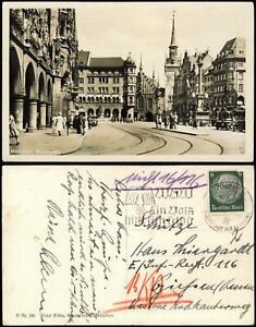 Ansichtskarte München Marienplatz 1938