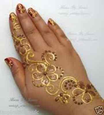 Glitter Gel Cone/ Face Paint /  Henna Tattoo Body Art/ Henna Glitter STICKERS