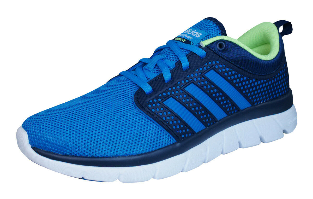 adidas Neo Cloudfoam Groove Mens Running Sneakers / Sports Shoes - Navy