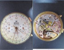 walker movement cal landeron 48 crono chronograph old wrist watch parts working
