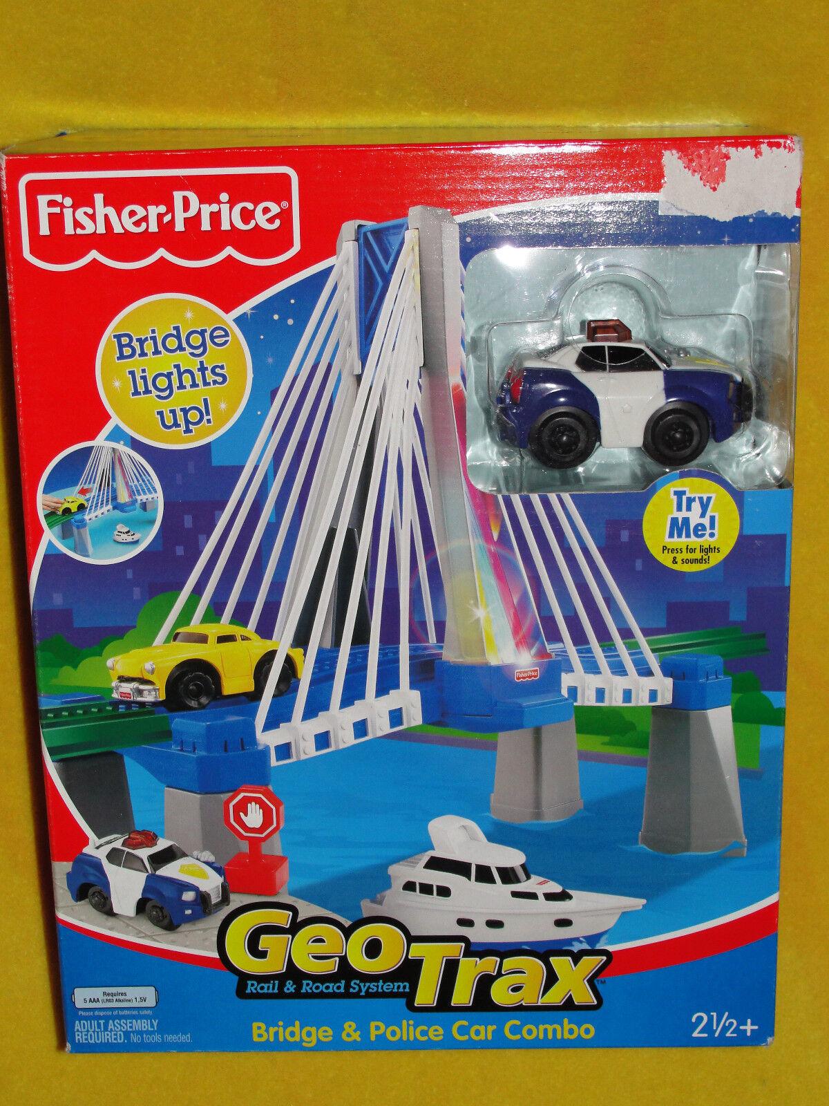 Elektrische EISENBAHN FISHER PRICE GEOTRAX ZUBEHÖRTEIL RAINBOW BRIDGE MIT LICHT