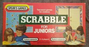 Vintage-Scrabble-pour-Juniors-Jeu-SEALED-Kids-SCRABBLE-par-Spears-libre-p-amp-p