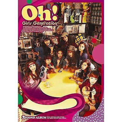 K-POP GIRLS' GENERATION SNSD 2nd Album [Oh!] CD + Photobook + Photocard Sealed
