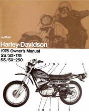 1976 Ss Sx 175 Ss Sx 250 Harley Davidson Owner Manual New Nos Ebay