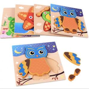 Kids wooden jigsaw puzzles Early Learning bébé jouets éducatifs