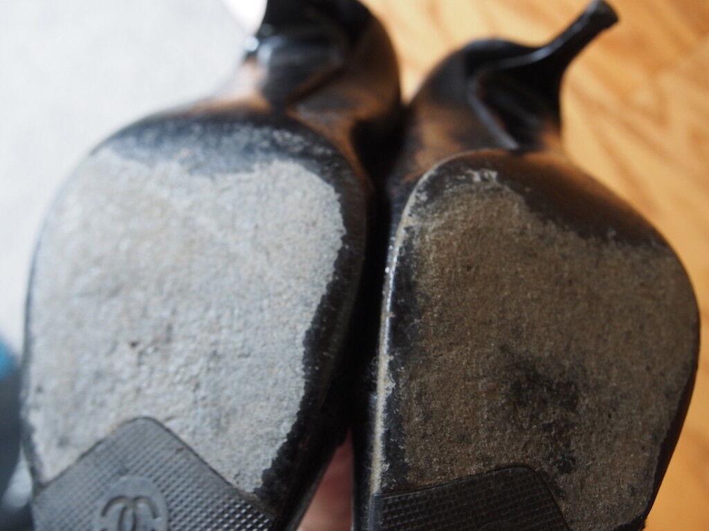 Chinese schwarz crack Leder and velvet pumps pumps pumps c0b4ce