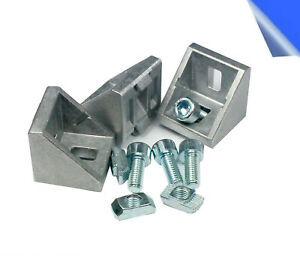 10x Befestigungsmaterial Winkel für 30x30 & 30x60 Nut 8 Aluprofil