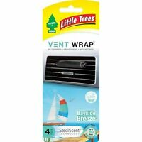 4 Little Trees Vent Wrap Car Air Freshener Bayside Breeze Scent (total 1 Pack)
