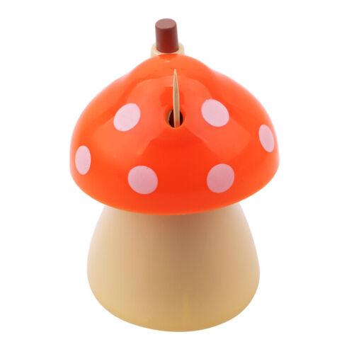 Home Bar Cute Mushroom Shape Toothpick Holder Storage Box Case Dispenser Jian