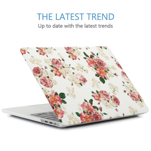 """Women Vintage Flower Case For 2018 /& 2016 Macbook Pro 13.3/"""" with//out Touch Bar"""