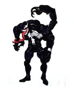 """Marvel Comic 7/"""" Spider-Man Black /& Variant Orange Venom Loose Action Figure Set"""
