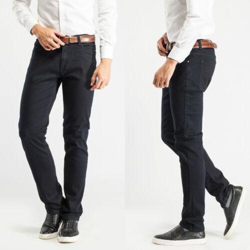 32W Robelli Men/'s Designer Navy Blue Slim Denim Stretch Jeans
