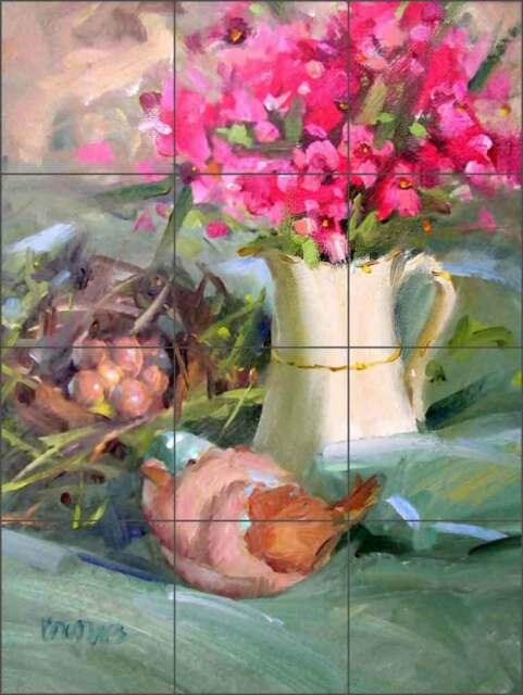 Ceramic Tile Backsplash Mural Crowe Sunflower Flowers Floral Art JAC067