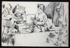 Charles-Kvapil-1884-1957-all-Soldiers-1918-Drawing-Czechoslovakia-School-Paris