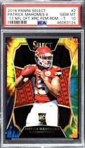 Platinum NFL Random Hits Box/Pack - PSA 10 Patrick Mahomes RC, Numbered SP & SSP