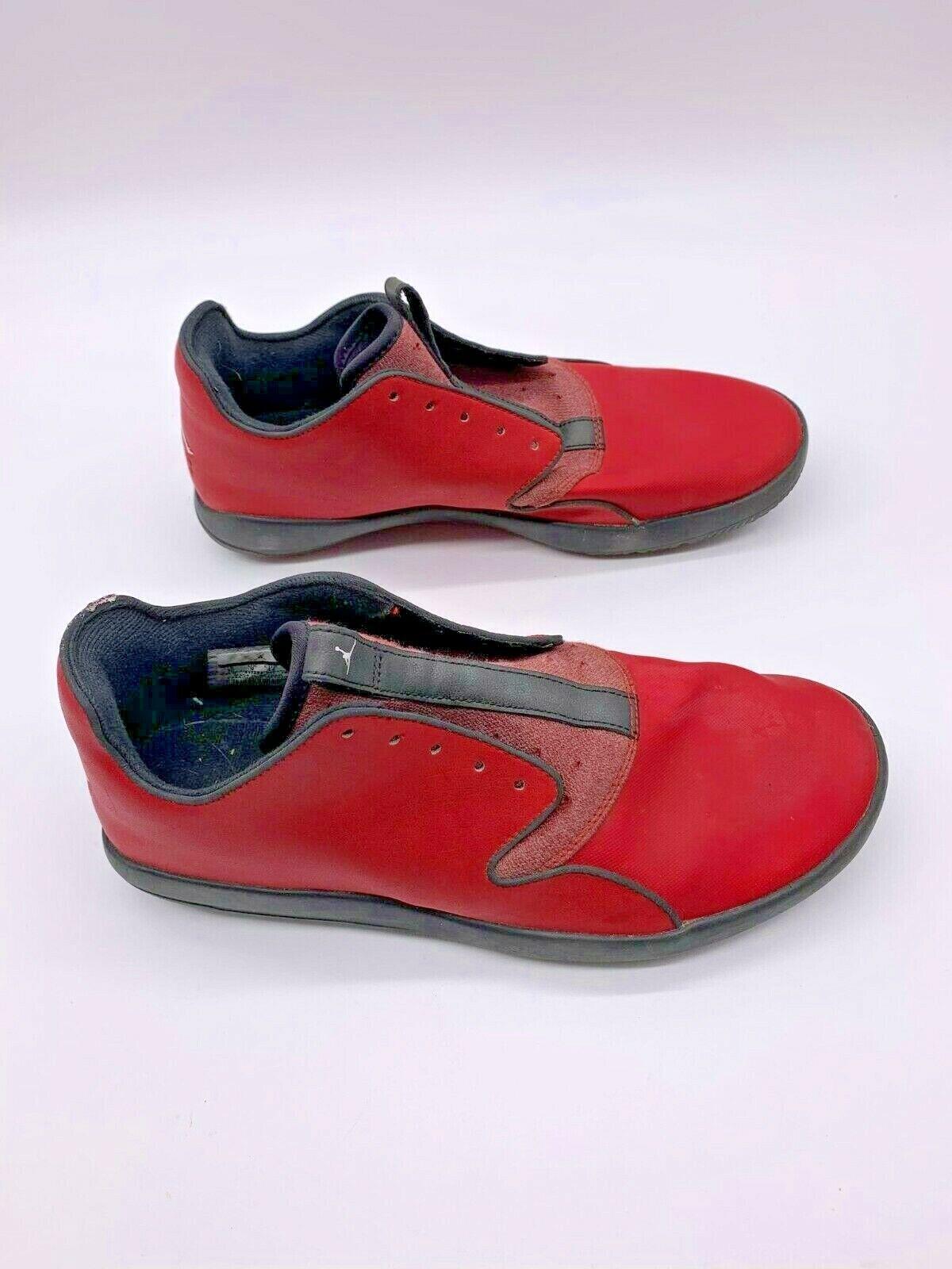 Nike Air Jordan Eclipse Men's sz 10 812303-601 low top red leather NO STRINGS!