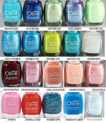 Korean Cosmetics Olivedeco Nail Polish Manicure Multi-Color No.600 ~ No.1612