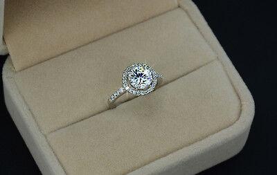 Luxus Verlobungsring Weiß Gold plattiert (vergoldet) Damen Ring Strass Kristall