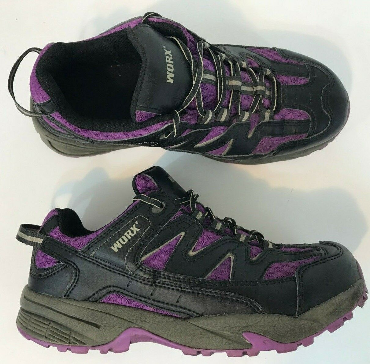 RED WING WORX 9305 Women 9W Black Purple Lace Up Steel Toe Sneaker Work shoes
