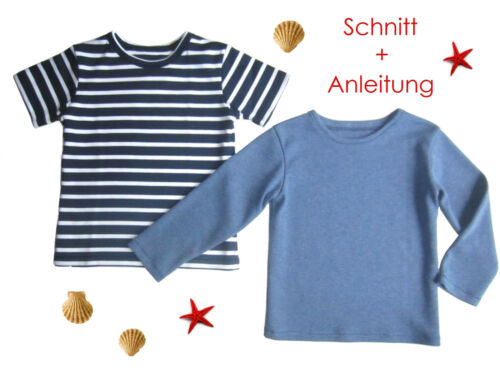 Schnitt Nähanleitung Kinder T-Shirt als Ebook Gr.92-128