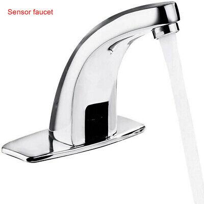 Sensor Motion Faucet Hands Free Arc Bathroom Hotel Vessel Automatic Sink Taps