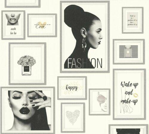 Vliestapete Collage Fashion weiß silber Metropolitan Stories 36918-2 4,49€//1qm