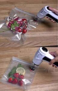 Electric-Vacuum-Pump-Fridge-Freezer-Food-Saver-Storage-6-Bag-Resealable-Sous-UK