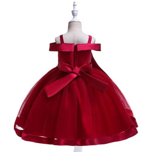 Flower Girl Dress Wedding Party Birthday Dress Elegant Pageant Tutu Dresses ZG9